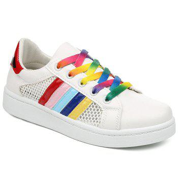 Stylish Striped and Splicing Design Women's Athletic Shoes