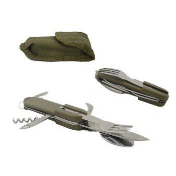 High Quality Multifunctional Portable Outdoor Camping Tableware Cutter Bottle Opener Knife Fork