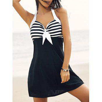 Halter One-Piece Striped Multi Convertible Way Women's Swimwear