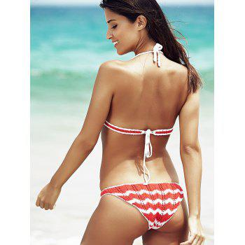 Trendy Halter Hit Colot Bikini pour les femmes - multicolorcolore ONE SIZE(FIT SIZE XS TO M)