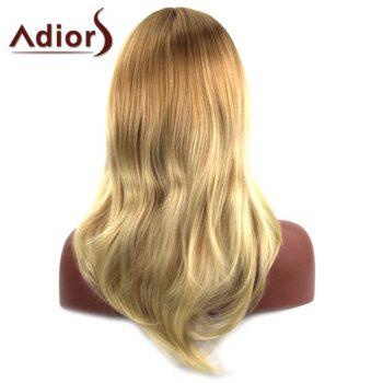 Trendy Mixed Color Long Layered Fluffy Natural Wave Middle Part Women's Synthetic Adiors Wig - COLORMIX