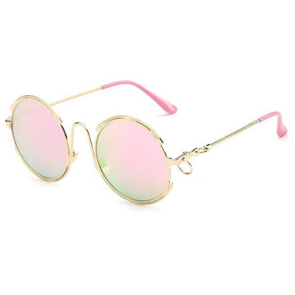 Fashion Circle Ring Round Frame Hipsters Sunglasses For Women - PINK