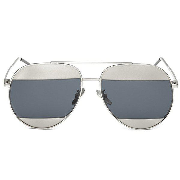 Fashion Cool Summer Two Color Match Lenses Hipsters Sunglasses For Unisex Aviator