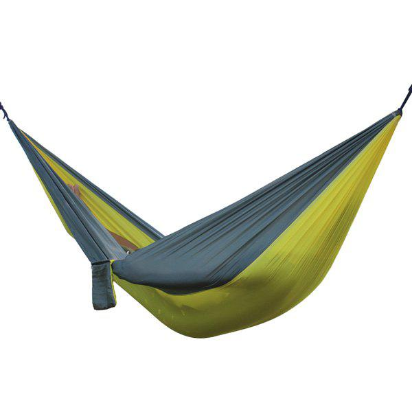High Quality Portable Home Garden Outdoor Camping Parachute Fabric Color Matching Hammock - GRAY