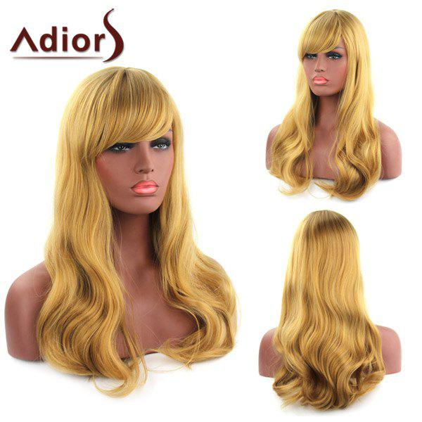 Vogue Golden Mixed Capless Fluffy Wave Long Women's Synthetic Adiors Wig