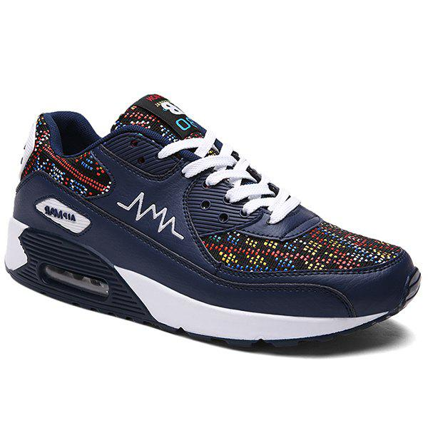Fashionable Multicolor and Splicing Design Men's Athletic Shoes - DEEP BLUE 41