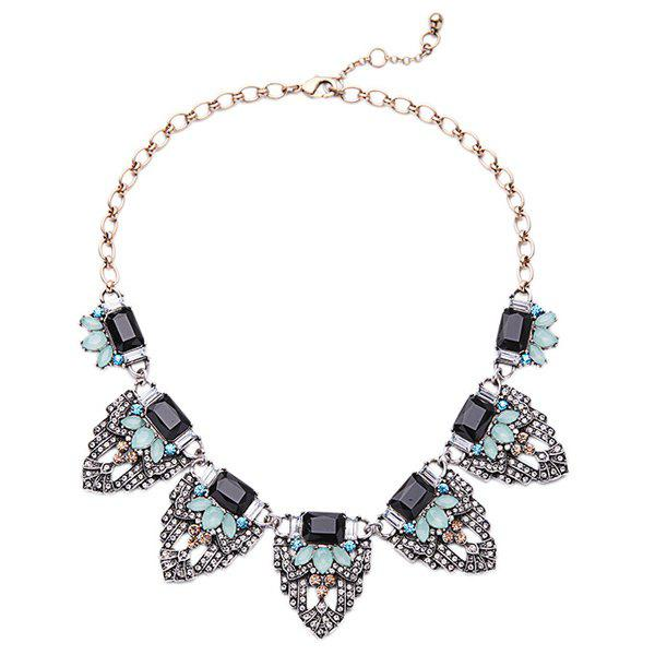Chic Faux Gem Alloy Geometric Necklace For Women