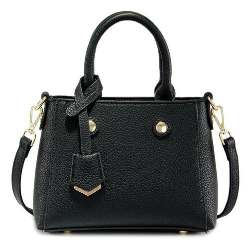 Charming Pendant and Solid Color Design Women's Tote Bag - BLACK