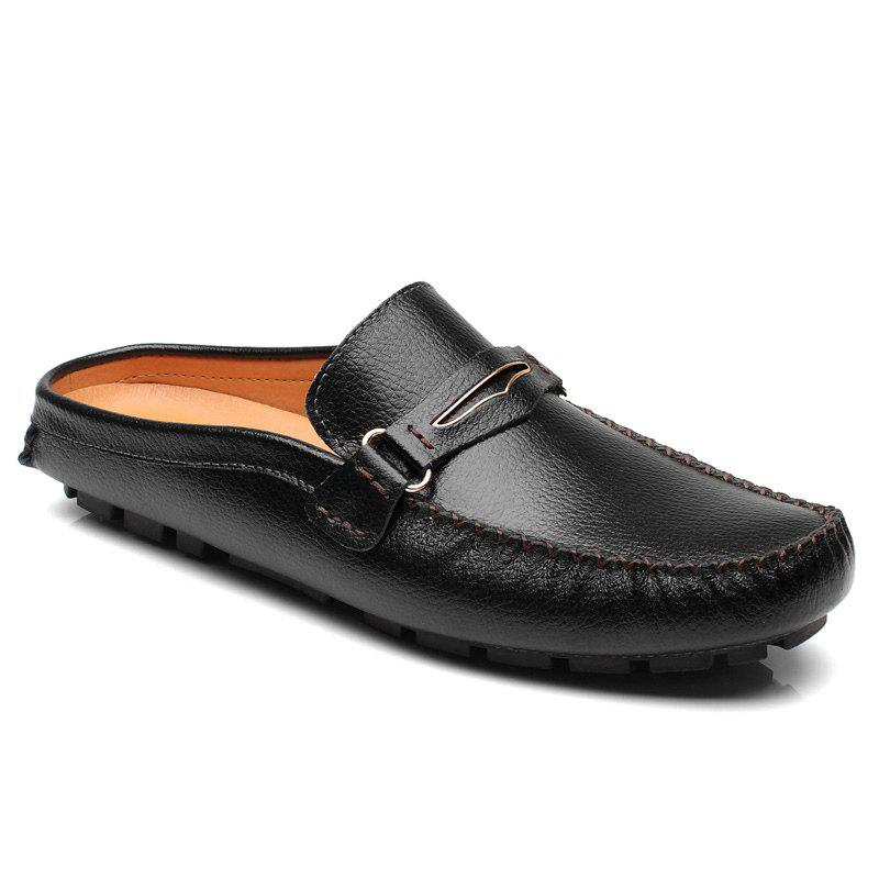 Casual Stitching and Black Design Mens LoafersShoes<br><br><br>Size: 40<br>Color: BLACK