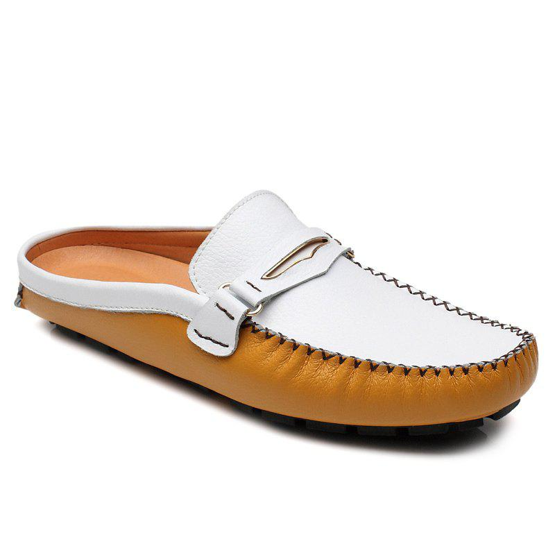 Casual Stitching and Color Block Design Men's Loafers - YELLOW 39