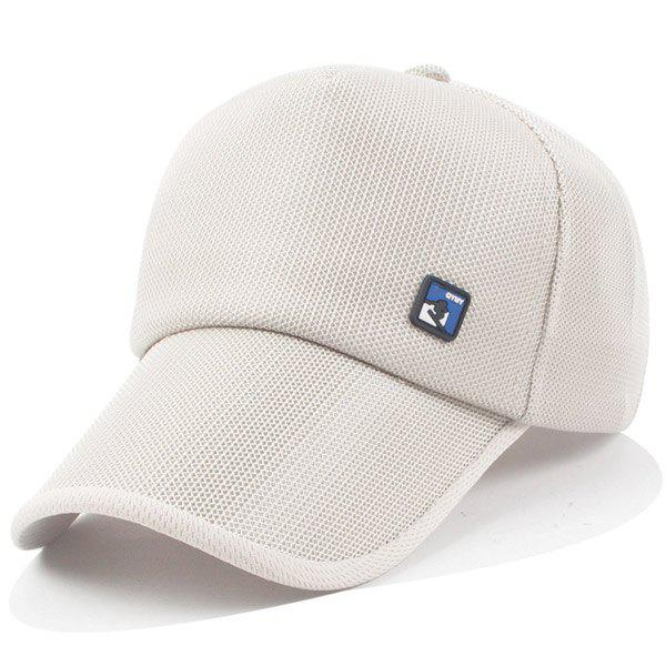 Stylish Quadrate Labelling Embellished Summer Outdoor Men's Baseball Cap - OFF WHITE