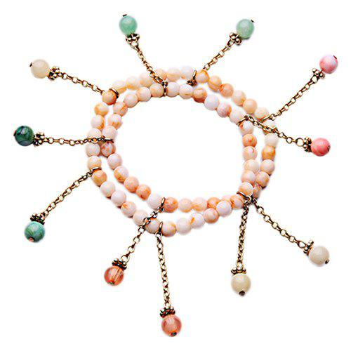 Beads Faux Gem Bracelet - COLORMIX
