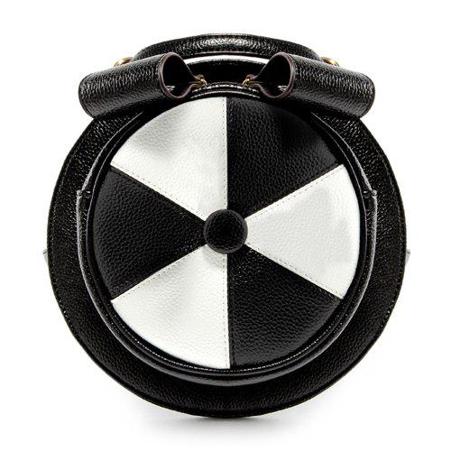 Cute Hat Shape and Color Block Design Women's Crossbody Bag - WHITE/BLACK