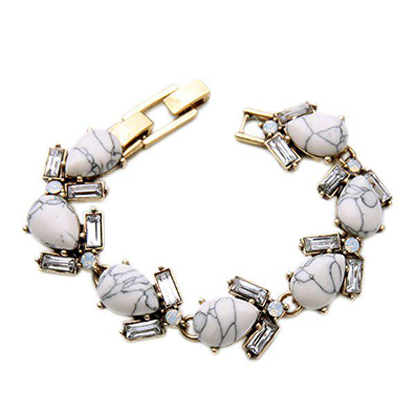 Water Drop Artificial Gem Bracelet - GOLDEN