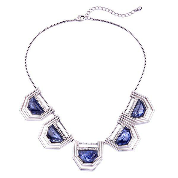 Chic Artificial Gem Geometric Necklace For Women