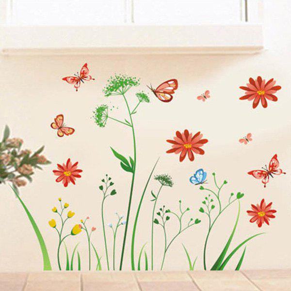 Fashionable DIY Romantic Recent Pattern Wall Stickers For Home Decor - COLORMIX