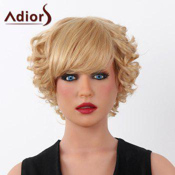 Fluffy Curly Human Hair Trendy Adiors Short Capless Wig For Women