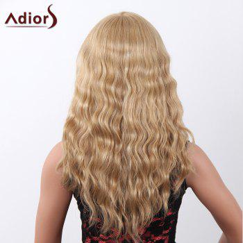 Charming Long Adiors Capless Shaggy Curly Women's Human Hair Wig -  LIGHT BLONDE /