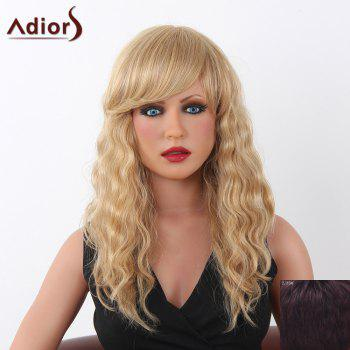 Charming Long Adiors Capless Shaggy Curly Women's Human Hair Wig - RED MIXED BLACK RED MIXED BLACK