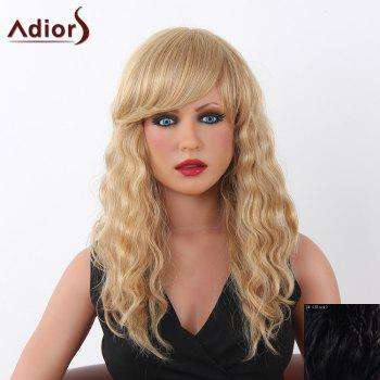 Charming Long Adiors Capless Shaggy Curly Women's Human Hair Wig - BLACK BLACK