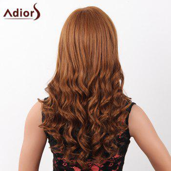 Fashion Long Adiors Capless Fluffy Wave Women's Real Human Hair Wig -  BROWN/BLONDE