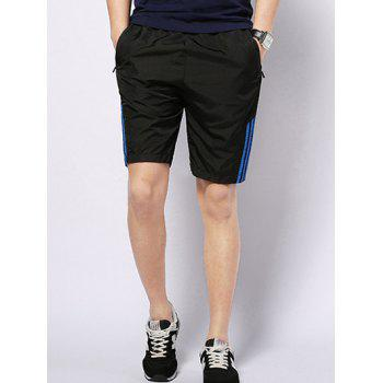Men's Casual Striped Lace Up Sports Shorts
