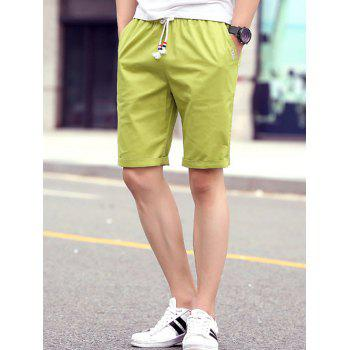 Men's Casual Solid Color Lace Up Sports Shorts