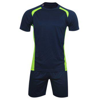 Men's Casual Round Neck Color Block Short Sleeve Sport Suit ( T-Shirt + Shorts )