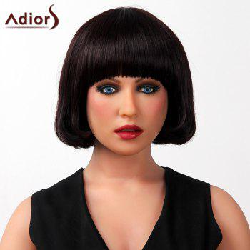 Sophisticated Full Bang Silky Straight Bob Cut Capless Human Hair Wig For Women