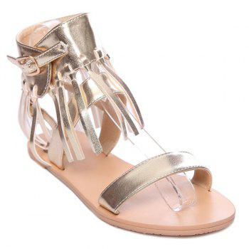Fashion Solid Color and Fringe Design Women's Sandals