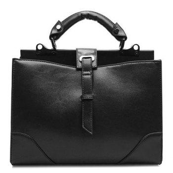 Fashionable PU Leather and Metal Design Women's Tote Bag