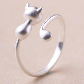 Kitten Shape Alloy Cuff Ring