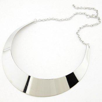 Alloy Adjustable Moon Shape Necklace