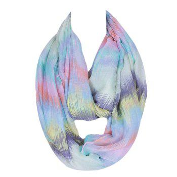 Buy Chic Scrawl Pattern Light Color Women's Voile Bib Scarf LIGHT BLUE