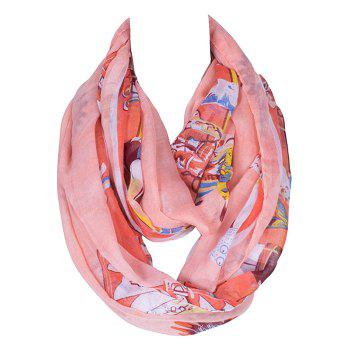 Chic American Indian Tribal Style Printed Women's Voile Bib Scarf