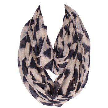 Chic Black Irregular Triangle Pattern Women's Voile Bib Scarf