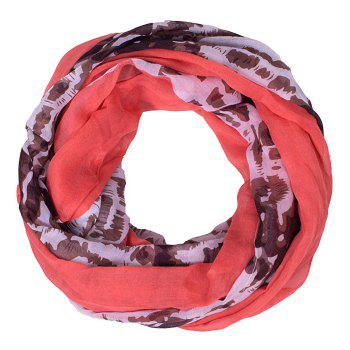 Chic Abstract Pattern Red Match Women's Voile Bib Scarf - RED