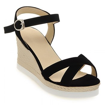 Stylish Cross Straps and Platform Design Women's Sandals