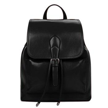 Fashion Solid Color and Cover Design Women's Satchel
