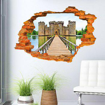 Stylish 3D Wall Broken Ancient Castle Pattern Sticker For Livingroom Bedroom Decoration