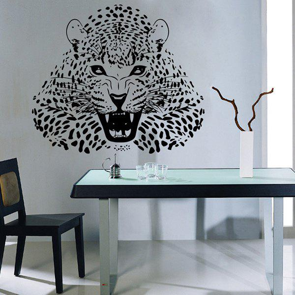 stylish black leopard pattern wall sticker for livingroom stylish rose wall sticker funky flower wall decor