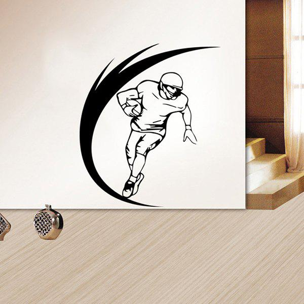 Stylish Sportsman Pattern Wall Sticker For Livingroom Bedroom Decoration - BLACK