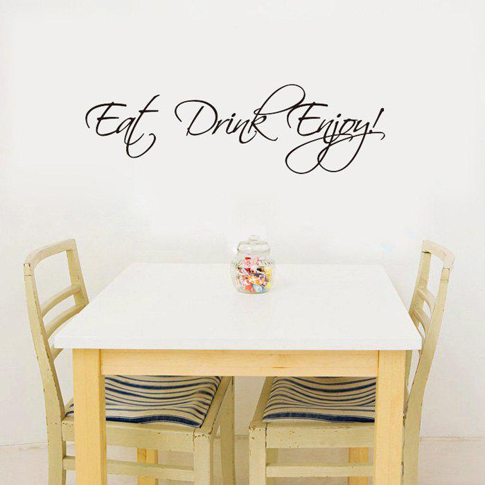 Stylish Eat Drink Enjoy Letters Pattern Wall Sticker For Livingroom Bedroom Decoration цена и фото