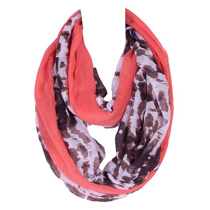 Chic Abstract Pattern Red Match Women's Voile Bib Scarf