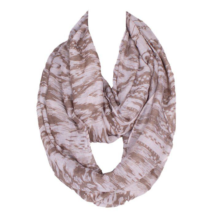 Chic Hazy Geometry Pattern Women's Voile Bib Scarf - LIGHT COFFEE