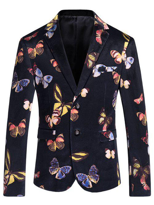 Men's Casual Butterfly Printed Blazer