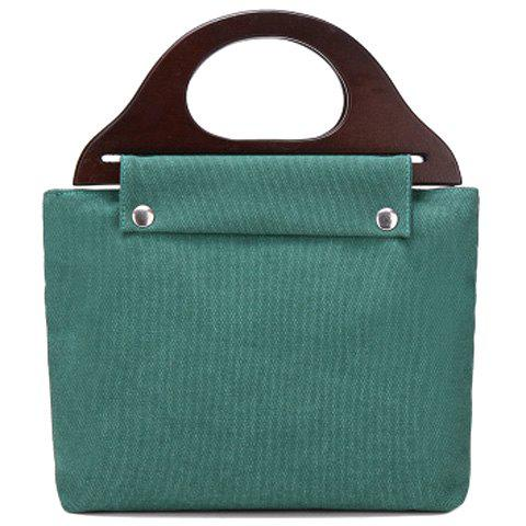 Casual Solid Colour and Canvas Design Women's Tote Bag