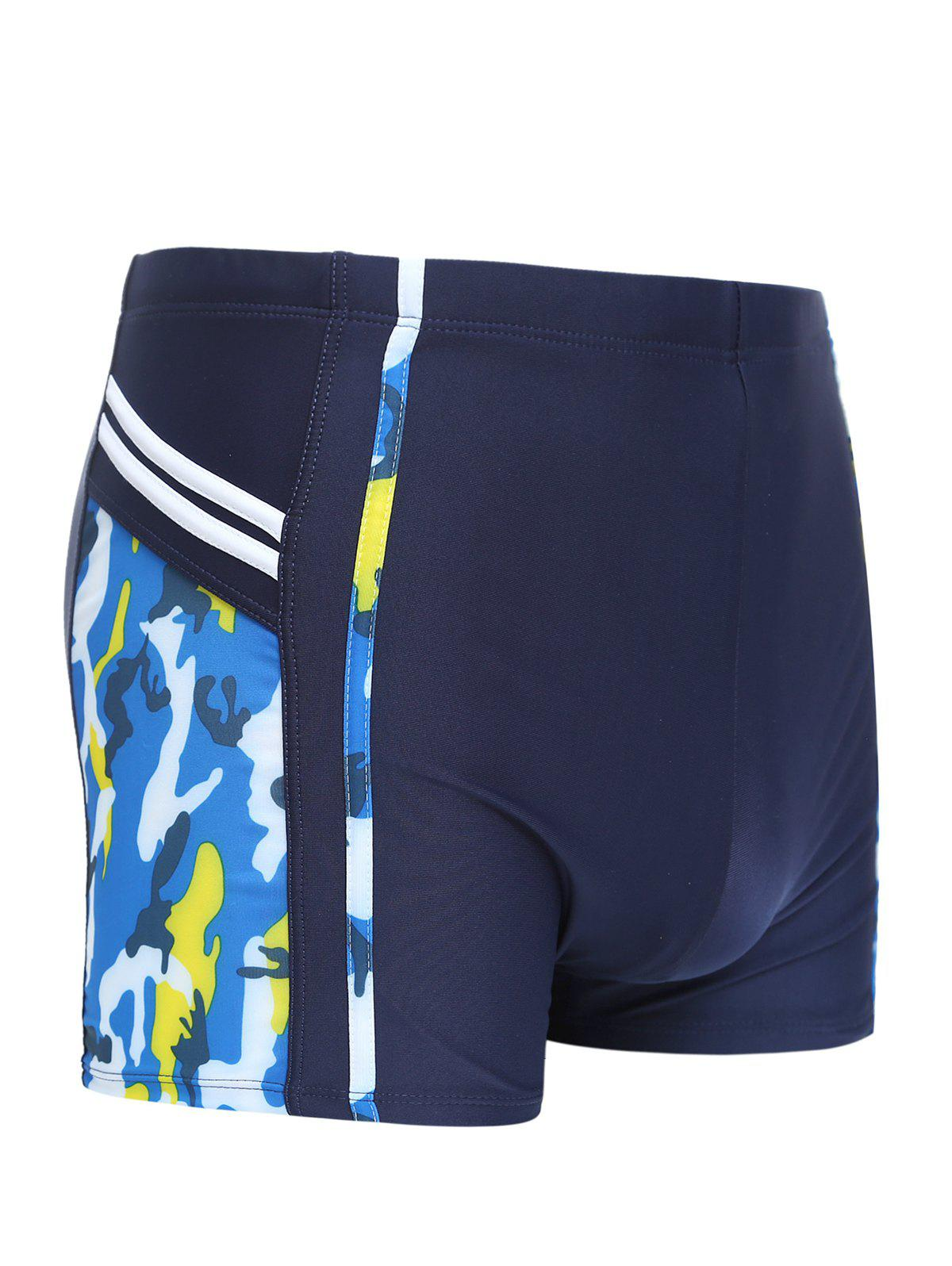 Men's Striped Printed Swimming Trunks