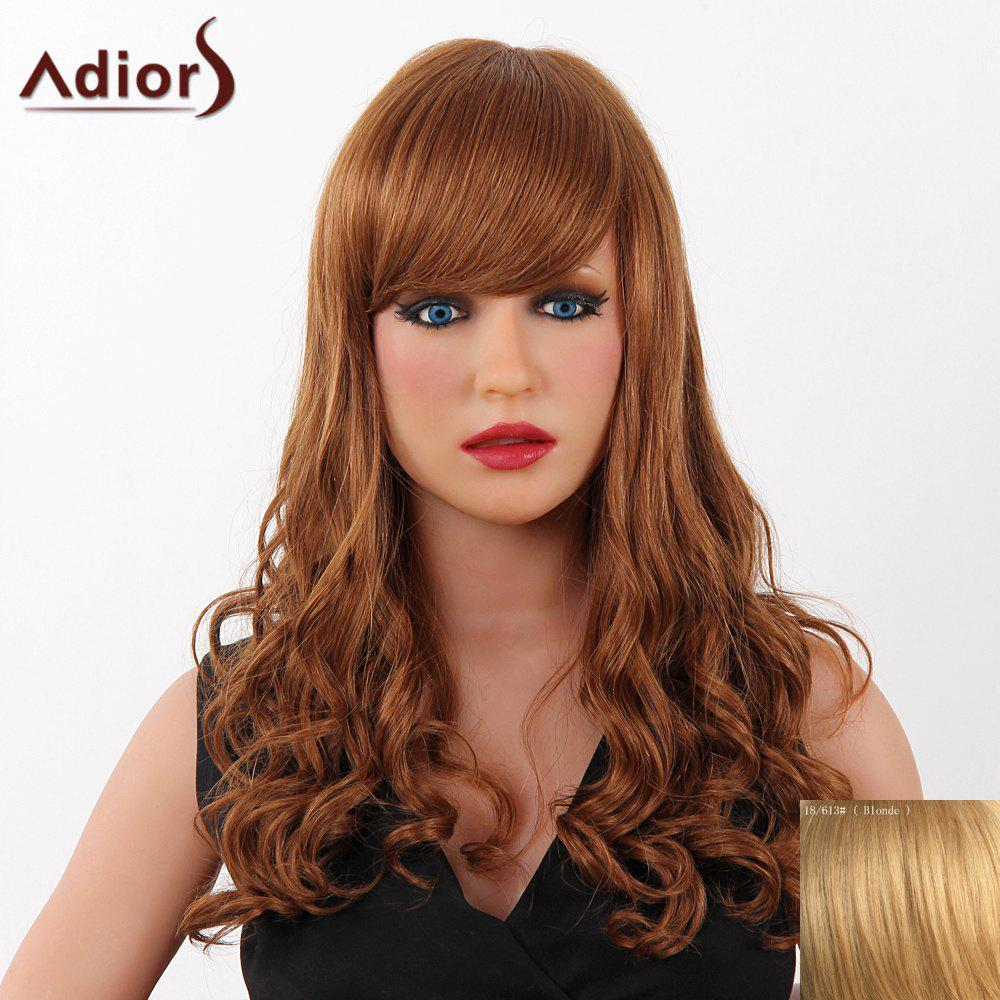 La mode Long Adiors capless Fluffy Vague femmes s 'Real perruque de cheveux humains - / 3 Blonde