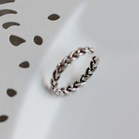 Twisted Opening Ring - SILVER ONE-SIZE
